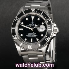 Rolex Submariner Date - Classic Sapphire Model REF: 16610 | Year 1989 - An all time classic, the Rolex Submariner is the quintessential dive tool... This example from 1989 sports a rugged sapphire crystal glass, chronometer rated 3135 automatic movement and sturdy 93150 bracelet. Serviced by our workshop and covered by our 2 year WATCHCLUB warranty - for sale at Watch Club, 28 Old Bond Street, Mayfair, London