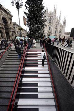 musical stairs, Milan - Italy