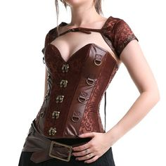 Corset 3 Piezas Steampunk Crazy in love