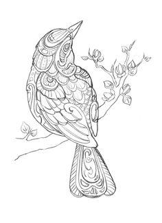 Marika Makes Art: Red Winged Blackbird: Sketch