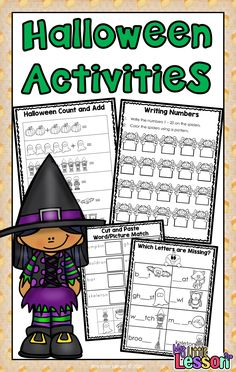 This Halloween Activities Book includes 1 cover page, 7 English worksheets, and 4 Math worksheets. This fun booklet will keep your students working, engaged, and happy during the lead up to Halloween! This Product Contains: •My Halloween Book Cover Page •7 English Worksheets •4 Math Worksheets