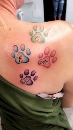 Colors ideas, initials, smaller though Tattoos Skull, Dog Tattoos, Animal Tattoos, Body Art Tattoos, Small Tattoos, Tatoos, Pretty Tattoos, Beautiful Tattoos, Piercing