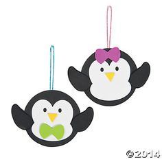 Penguin with Bow Ornament Craft Kit, Ornament Crafts, Crafts for Kids, Craft & Hobby Supplies - Oriental Trading