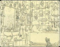 Mattias Adolfsson's Moleskine Drawings | MASHKULTURE