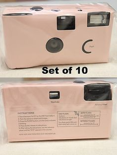 Disposable Cameras 177763 Baby Pink Wedding Camera 10 Pack Weddings Parties Party Single Use
