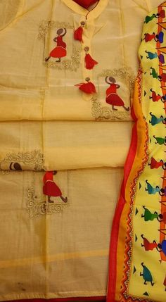 Lucknow Chikan Exclusif Sarabsons Shop No 101, Naveen Market, Kanpur. Designer Embroidered Suit Length 3 Piece Yellow Chanderi Cotton Rs. 1,950.00 only. Free Shipping. COD. Order on Call / Whatsapp +91-9918602101 or click to Buy Online