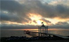 This is a picture of the pier across form the Barrier Island Station resort in Duck, NC. The pier goes out into the Currituck Sound and the views at sunset are amazing.
