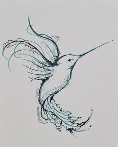 hummingbird tattoo black and white - Google Search
