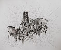 Architecture: Get inspired by this minimalist drawings. Architecture: Get inspired by this minimalist drawings. Architecture: Get inspired by this minimalist drawings. Architecture Artists, Architecture Sketchbook, Amazing Architecture, A Level Art Sketchbook, Perspective Art, Perspective Building Drawing, Minimalist Drawing, Building Art, City Art