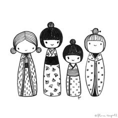 these are such sweet, pretty and cute sketches. flora waycott is a  british/japanese illustrator and designer based in wellington, new zealand.  http://www.florawaycottdesign.com