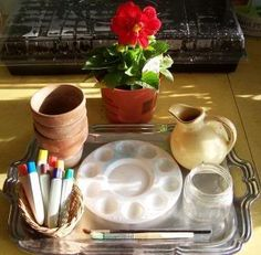 » Montessori trays for spring LaPaz Home Learning