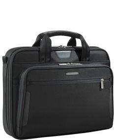 Briggs & Riley 'Medium Slim' Ballistic Nylon Briefcase available at Laptop Briefcase, Laptop Bag, Shoulder Pads, Shoulder Strap, Briggs And Riley, Computer Sleeve, High Tech Gadgets, Back Strap, Leather Handle