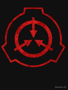 A red version ot the infamous symbol of the SCP foundation. SHow that you're part of this foundation by showing the people this awsome symbol. Secure. Contain. Protect Content relating to the SCP Foundation, including the SCP Foundation logo, is licensed under Creative Commons Sharealike 3.0 and all concepts originate from http://www.scp-wiki.net.