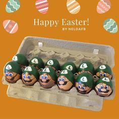 DIY Easter Eggs Luigi (Mario Bros.)