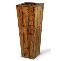 vaso de madeira para plantas grandes                              …