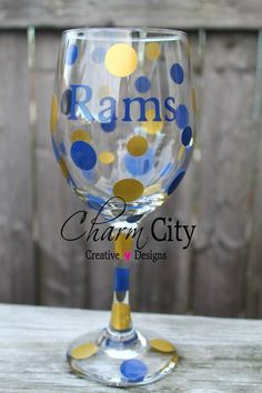 St. Louis Rams Inspired Wine Glass 20 oz on Etsy, $12.00