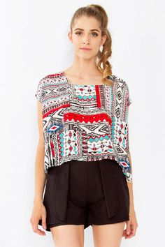 46ff3c4bd4a Aztec Art Top. Sugar LipsTribal PatternsCasual TopsDressy TopsWomen s  Fashion ...