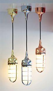 Metallic pendants by Luxxbox by Luxxbox