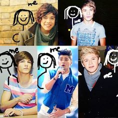Individual pictures of my five husbands and myself.