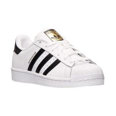 Women's adidas Superstar Casual Shoes ($80) ❤ liked on Polyvore featuring shoes, sneakers, adidas, genuine leather shoes, striped shoes, adidas trainers, adidas sneakers and adidas shoes