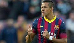 Uno de sus ultimos partidos en el club catalán , para despues llegar a londres