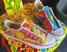 Custom Hand Painted canvas shoes by TheImpossibleChild on Etsy 412206b26be
