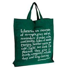 Germaine Greer library bag on British Library
