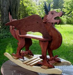 When a horse won't do. Wesh Rocking Dragon $250.00. I love it, I might make it.  My note:  My theory for adding this is…if we have a girl we are going to name her Rowan Daenerys.  We'll have to have a music themed dragon room.  =D