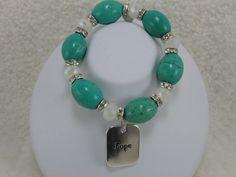 Turquoise Bracelet Crystal Bracelet Charm by NaturesJewelsByVina, $40.00