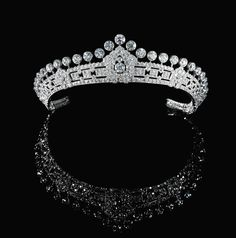 Mary, Duchess of Roxburghe's Art Deco Diamond Tiara - 1930s - Cartier - $2.5 million at auction in 2015