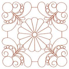 Quilting Feather Daisies embroidery quilt patterns