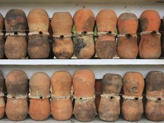An Educational Display of Clay Beehives of the Stingless Trigona Bees (Scaptotrigona) Puebla State Photographic Print by Eric Tourneret - Al...