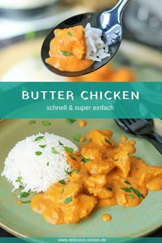 Cremiges Butter Chicken - Delicious Stories Creamy butter chicken - quick and super easy. It is not marinated in yogurt, only in turmeric and chilli. Indian Food Recipes, Vegetarian Recipes, Healthy Recipes, Ethnic Recipes, Easy Recipes, Rice Recipes, Soup Recipes, Keto Recipes, Crockpot Recipes