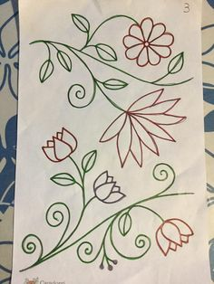 Bordado Embroidery Flowers Pattern, Embroidery Motifs, Hand Embroidery Designs, Floral Embroidery, Flower Patterns, Beading Patterns, Mexican Embroidery, Hungarian Embroidery, Quilling Letters