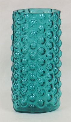 Oh how I love the polka dot texture on this glass. Blenko Glass