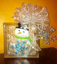 Lighted ChristmasGlassBlock #glassblock #lightedglassblock #Christmas