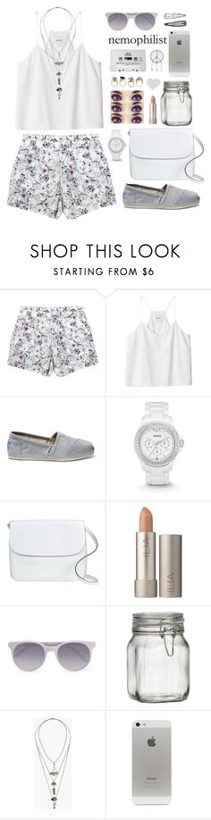 """""""dreaming"""" by mara-xx ❤ liked on Polyvore featuring Emma Cook, Monki, TOMS, FOSSIL, Marni, Ilia, Prism, Crate and Barrel, Topshop and CASSETTE"""