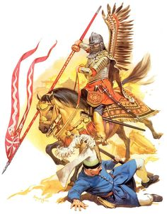 Charge of the Polish Winged Hussar against Ottoman Turks at the Battle of Vienna