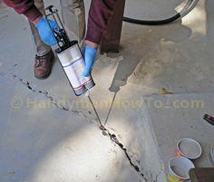 Concrete Slab Crack Repair: Finish Coat of Emecole 555
