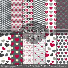 Valentine's day digital paper: VALENTINE'S PAPER by ClaireTALE