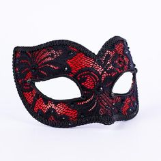 Lacy Cherry.Strikingly beautiful in red and black, this lace-covered mask is the ideal accessory if you're looking to add a touch of femininity to your outfit.  vivomasks.com