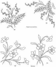 Briggs' Floral Embroidery Designs fern