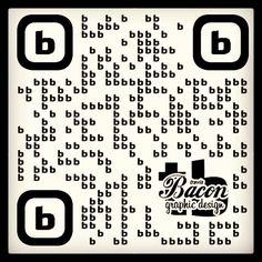 QR typographic #qrcode #QR