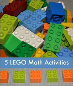 5 LEGO Math activities - fun way to practice math skills this summer!