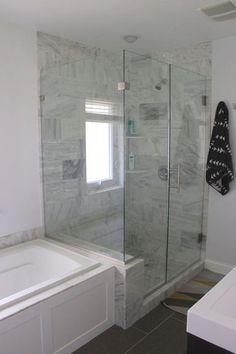 Modern Master Bathroom, Modern Bathroom Design, Small Bathroom, Bathroom Ideas, Bathroom Interior, Big Bathrooms, Serene Bathroom, Bathroom Crafts, Master Bedroom Bathroom