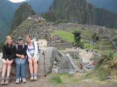 Best friends hanging out at Machu Picchu