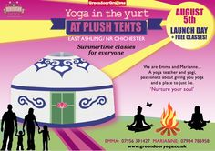 Introducing #yoga classes at Plush Tents! #Chichester #Sussex