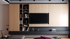 Loft interior design on Behance unit design Behance Loft interior design Modern Tv Room, Modern Tv Wall Units, Living Room Modern, Living Room Wall Units, Living Room Tv Unit Designs, Painel Tv Sala Grande, Tv Wall Cabinets, Tv Unit Furniture, Muebles Living