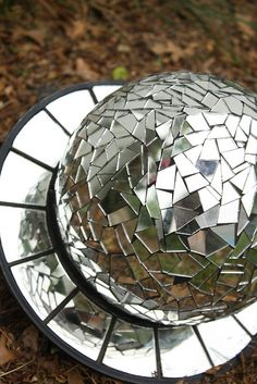 Mirrored bowling ball