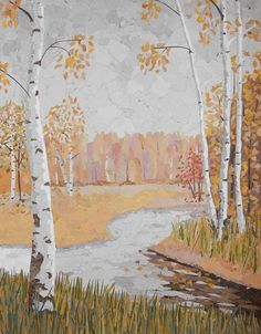 birches on the river